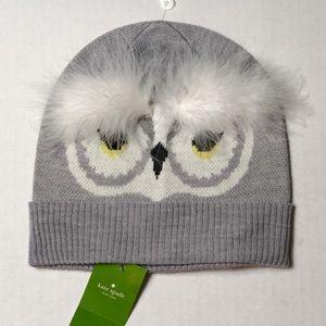 Kate Spade NWT who owl beanie hat toboggan